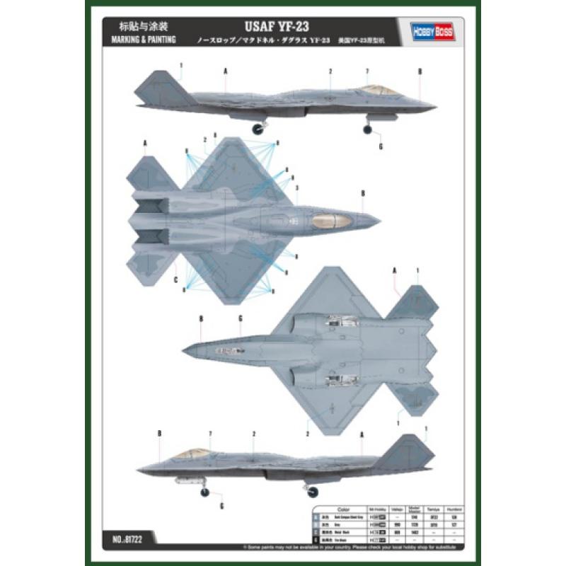 Hobby Boss 81722 1/48 YF-23 Black Widow II Kit First Look