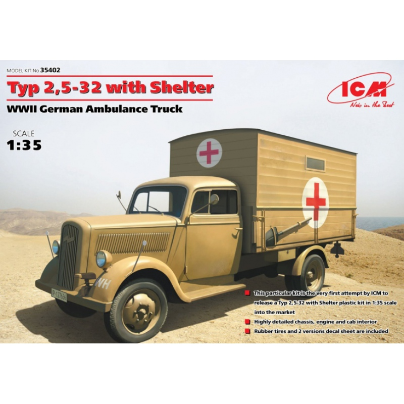 icm 35402 1 35 opel blitz typ 2 5 32 w shelter wwii. Black Bedroom Furniture Sets. Home Design Ideas