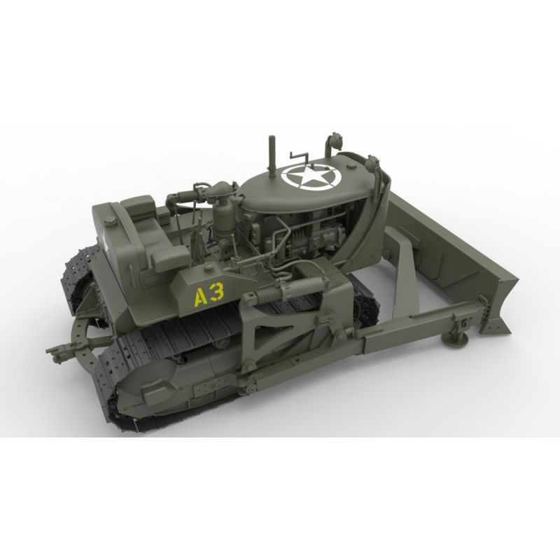 miniart 35195 modellbausatz 1 35 u s army bulldozer. Black Bedroom Furniture Sets. Home Design Ideas