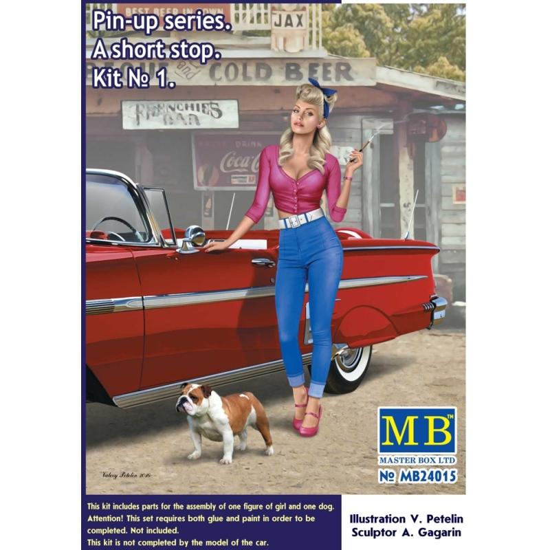 32//35 Masterbox Pin-up Girls Frauen 1 Figure Samantha 1:24 Modell-Bausatz USA