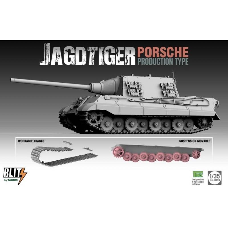 Takom 8003 - 1/35 Jagdtiger Sd.Kfz.186 (Porsche Prod. Type)