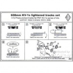 KV-1s 608mm lightened Tracks Set - ACE 1/72