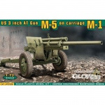 U.S. 3inch anti-tank gun M-5 on carriage - ACE 1/72