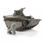 LVT-4 Buffalo Carrying M2A1 105mm Howitzer - AFV Club 1/35