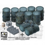 German 20L & 200L Fuel Drums - AFV Club 1/35