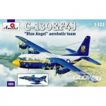 C-130 & F4J Blue Angel Aerobatic Team - Amodel 1/144