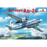 Antonov An-24 Civil Aircraft - Amodel 1/72