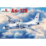 Antonov An-32B Civil Aircraft - Amodel 1/72