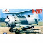 I-207 Soviet Biplane Fighter - Amodel 1/72