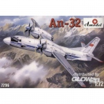 Antonov An-32 Soviet Transport Aircraft - Amodel 1/72