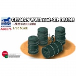 German WWII 200L Oil Drums - Bronco 1/35