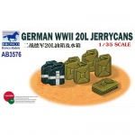 German WWII 20L Jerrycans - Bronco 1/35
