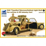 DAK Topolino (German-Italian) Light Staff Car w. Crew &...