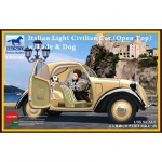 Italian Light Civilian Car (Open Top) w. Lady & Dog -...