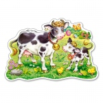 PUZZLE Cows on a Meadow (12 Teile, Maxi)
