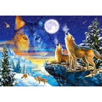 PUZZLE Howling Wolves (1000 Teile)