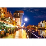 PUZZLE Gdansk Waterfront at Night (1000 Teile)