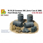 WWII German 20L Jerry Can & 200L Fuel Drum Set - Classy...