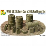 WWII US 20L Jerry Can & 200L Fuel Drum Set - Classy Hobby...