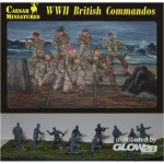 WWII British Commandos - Caesar Miniatures 1/72