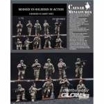 Moders US Soldiers in Action - Caesar Miniatures 1/72