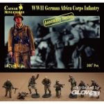 German Africa Corps Infantry - Caesar Miniatures 1/72