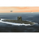 French Navy Le Triomphant SSBN - Hobby Boss 1/350