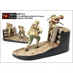 U.S. Marines Infantry Pacific w. Base - Hobby Fan 1/35