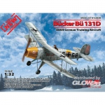 Bücker Bü 131D,WWII German Training Aircraft(100% new molds)