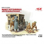 Model T 1917 Ambulance w. US Medical Personnel - ICM 1/35