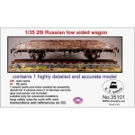 Russian 20t Low Sided Wagon - LZ Models 1/35