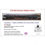Russian 60t Flatbed Railcar - LZ Models 1/35
