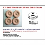 9x16 Wheels for CMP and British Trucks - LZ Models 1/35