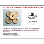 10,5x16 Wheels for CMP and British Trucks - LZ Models 1/35