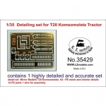 Detailing Set for T20 Komsomoletz Tractor - 1/35