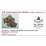 9.5x16 Good Year Wheels for CMP and British Trucks - LZ...