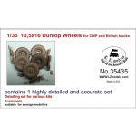 10.5x16 Dunlop Wheels for CMP and British Trucks - LZ...