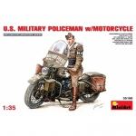 U.S. Millitary Policeman with Motorcycle - MiniArt 1/35