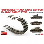 Workable Track Links Set for Pz.III/IV Early Type - Mini Art 1/35