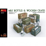 Milk Bottles & Wooden Crates - MiniArt 1/35