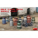 Milk Cans with Small Cart - MiniArt 1/35