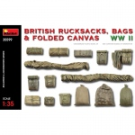 British Rucksacks, Bags & Folded Canvas WWII - MiniArt 1/35