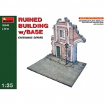 Ruined Building w. Base - MiniArt 1/35
