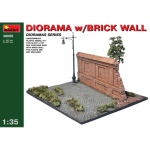 Diorama w. Brick Wall - MiniArt 1/35