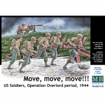 Move, move, move ! US Soldiers, Operation Overlord 1944 -...