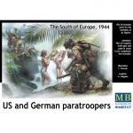 U.S. and German Paratroopers, The South of Europe 1944 -...