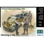 Hitching a ride, US Paratroopers and Civilians 1945 -...
