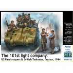 101th light Company. US Paratroopers & British Tankmen,...