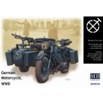 BMW R75 German Motorcycle WWII - Master Box 1/35