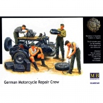 BMW R75 w. German Motorcycle Repair Crew - Master Box 1/35